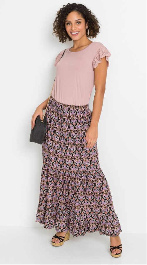sukně v maxi délce do pružného pasu