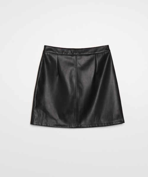 sukně vpředu na zip černá
