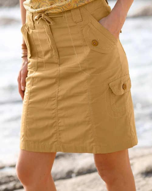sukně z bavlny na zavázání v pase