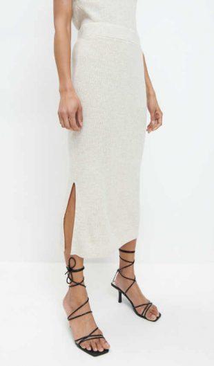 úplá moderní sukně v midi délce