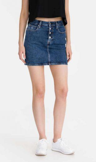 Dámská džínová sukně Calvin Klein v sexy krátké délce