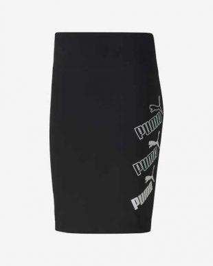 Sportovní krátká sukně Puma v černo-bílé kombinaci