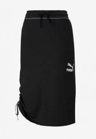 Sukně Puma v midi délce do pružného pasu a s efektivním řasením