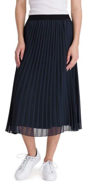 Černá plisovaná sukně v midi délce