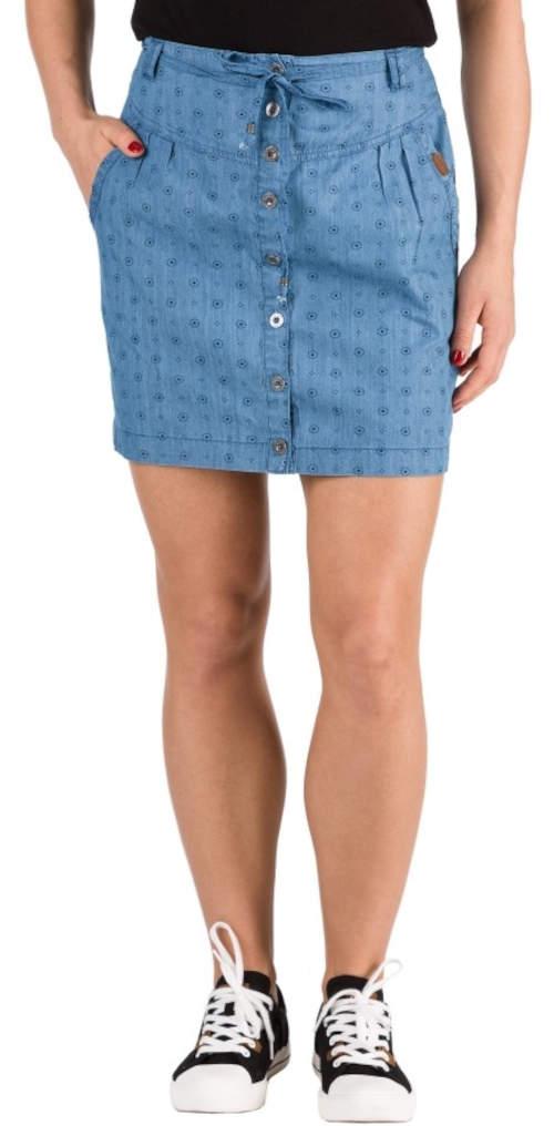 Dámská letní sukně se zapínáním na knoflíčky po celé přední délce