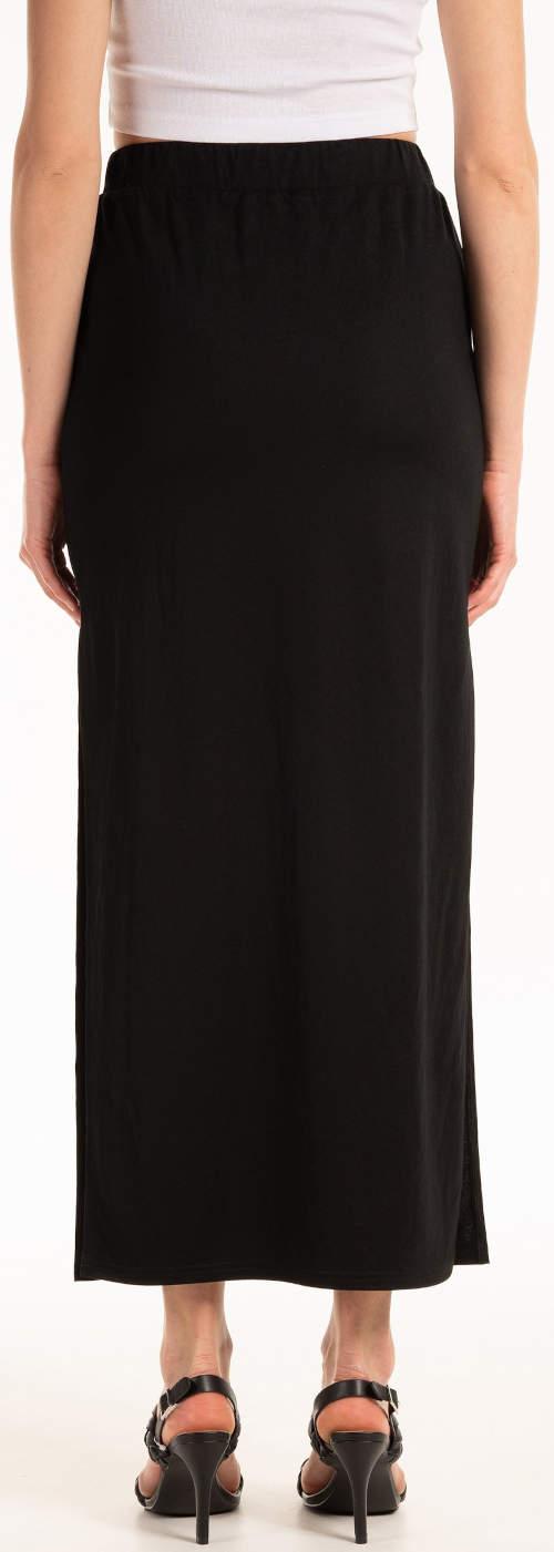 Jednobarevná černá dlouhá sukně výprodej