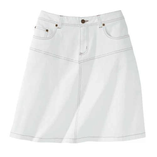 komfortní denimová sukně na zip