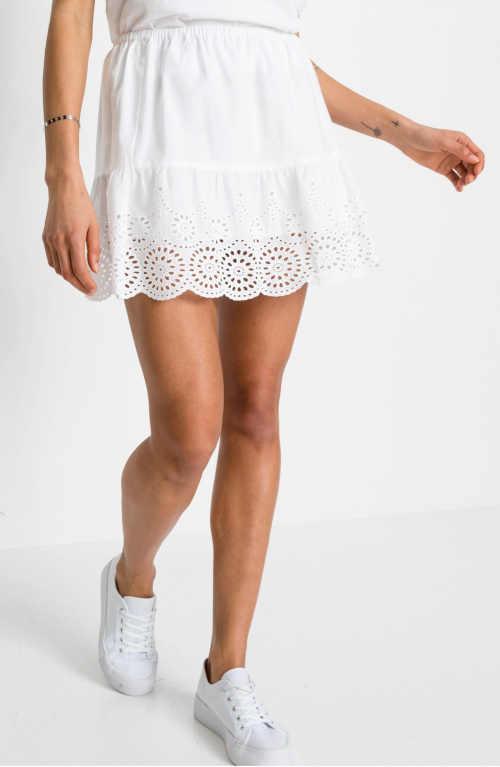 krátká bílá sukně Bonprix