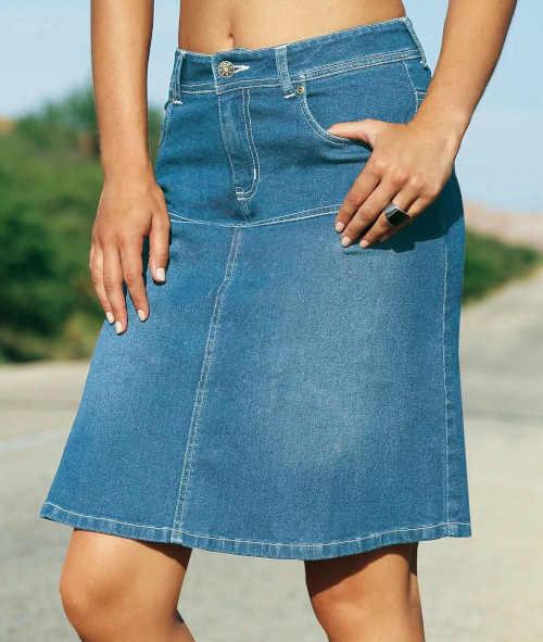 moderní džínová sukně Blancheporte
