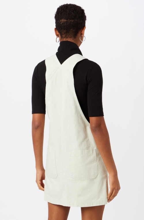 riflová sukně na šle bílá
