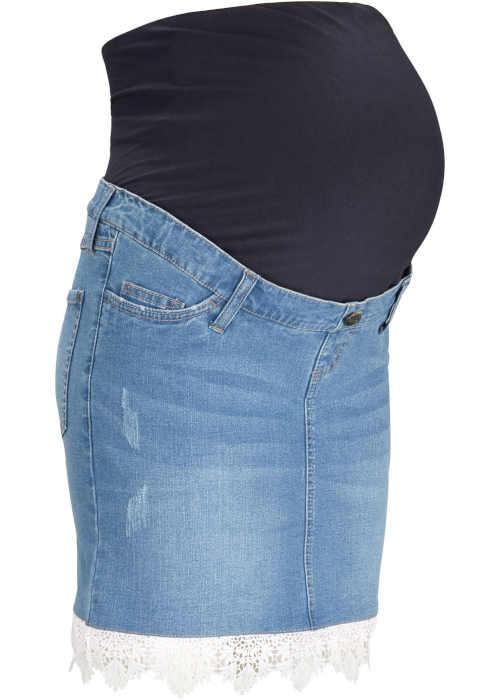 riflová těhotenská sukně Bonprix