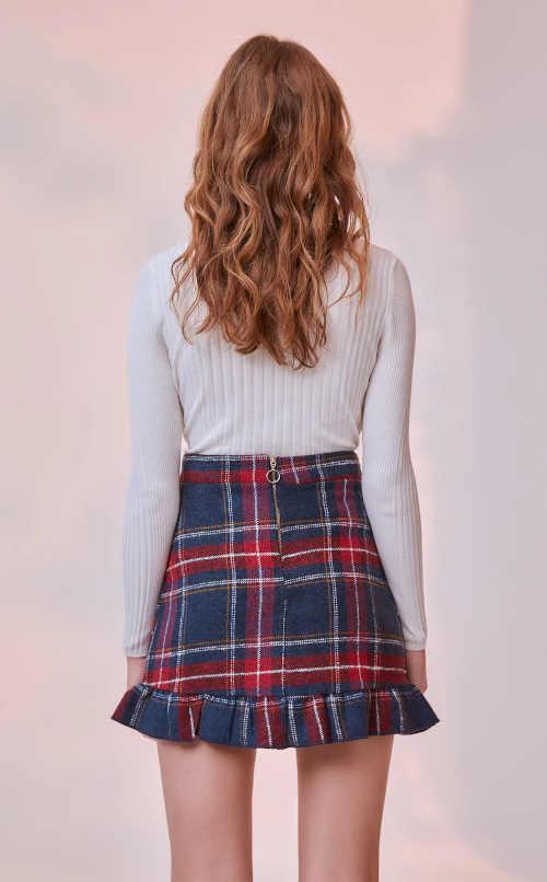sukně v mini délce na zip
