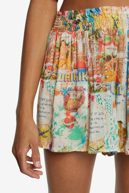 sukně v pestrobarevném provedení