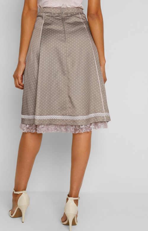 elegantní sukně s potiskem na zip