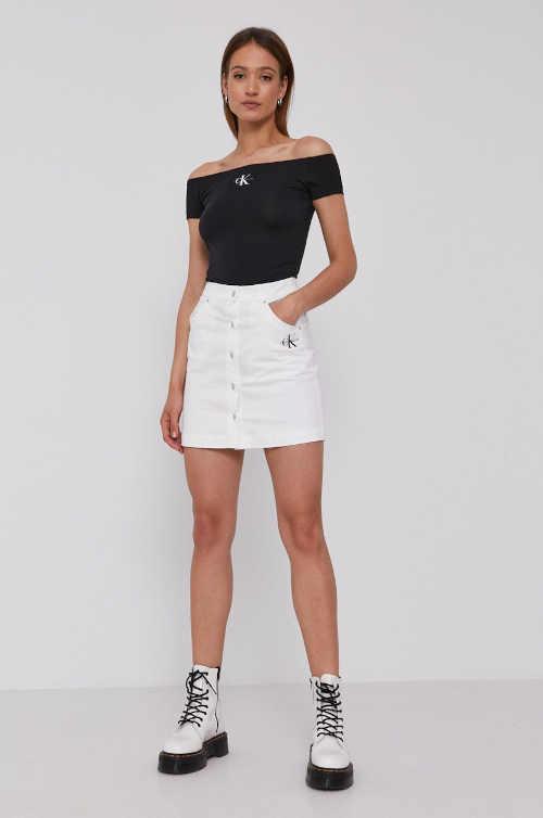 krátká riflová bílá sukně