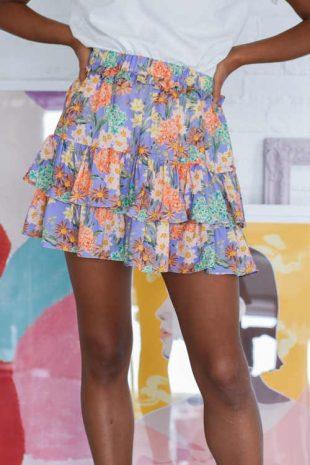 krátká sukně s volány