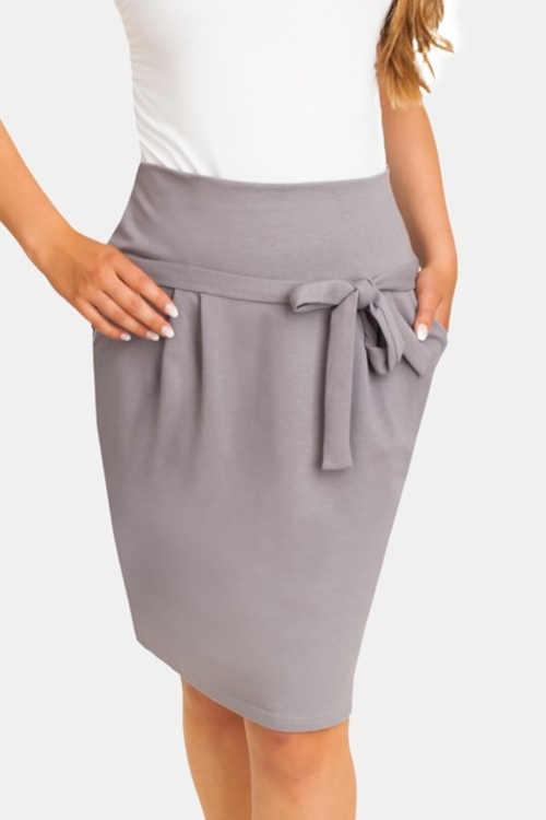 moderní těhotenská sukně s pružným pasem