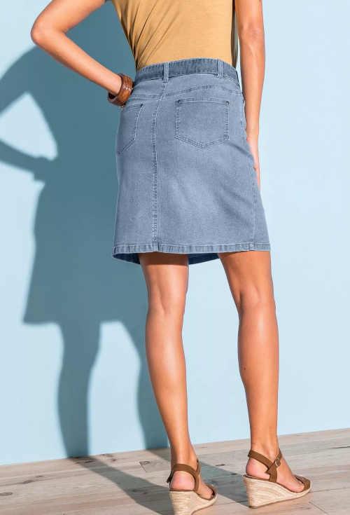 riflová dámská sukně Blancheporte