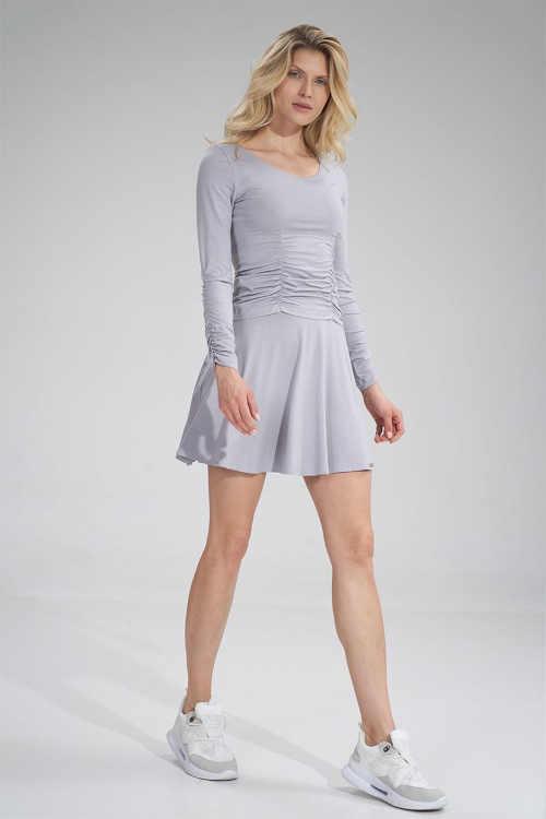 světle šedá krátká sukně