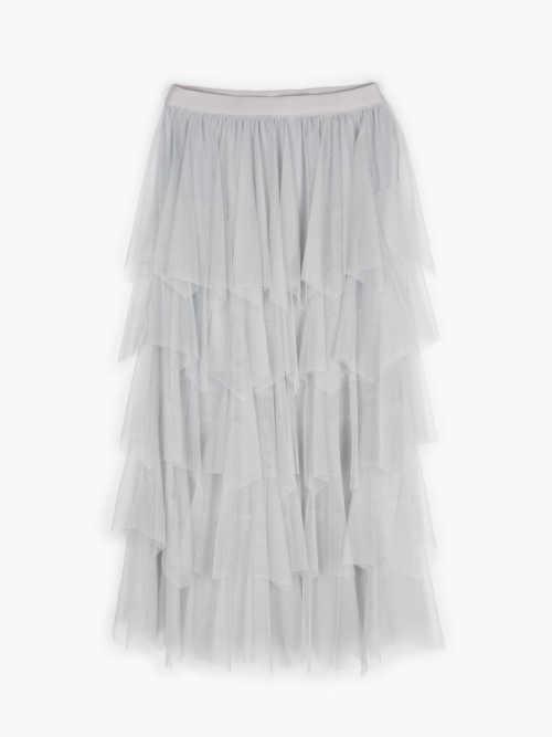 tylová dámská šedá sukně